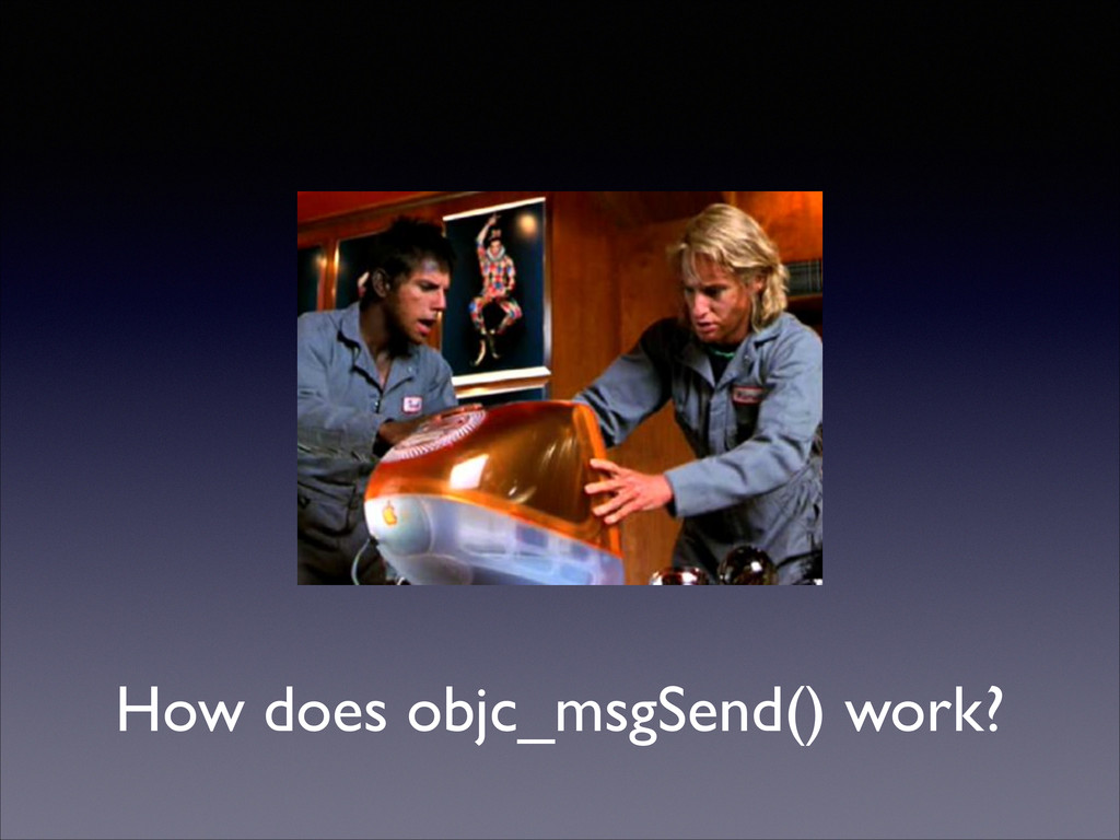 How does objc_msgSend() work?