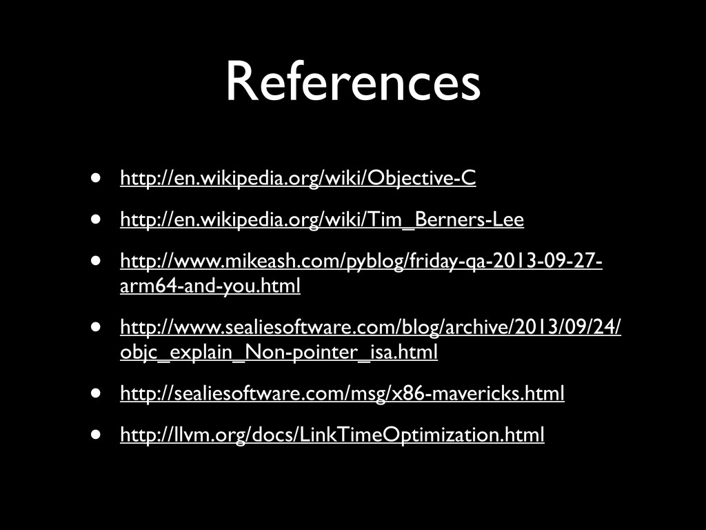 References • http://en.wikipedia.org/wiki/Objec...