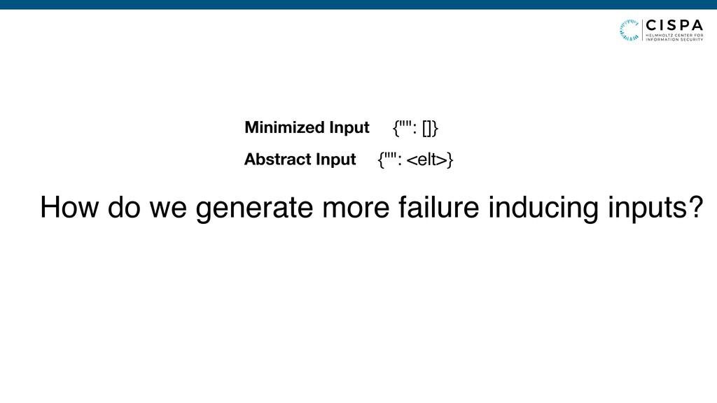 "{"""": <elt>} Abstract Input {"""": []} Minimized I..."