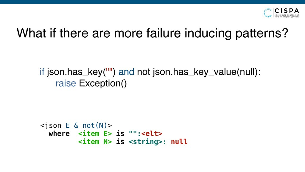 What if there are more failure inducing pattern...