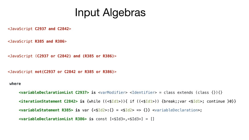 where <variableDeclarationList C2937> is <varMo...