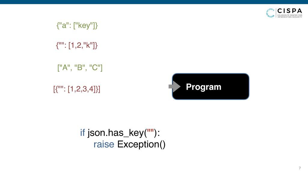 """7 {""""a"""": [""""key""""]} {"""""""": [1,2,""""k""""]} [""""A"""", """"B"""", """"C""""..."""