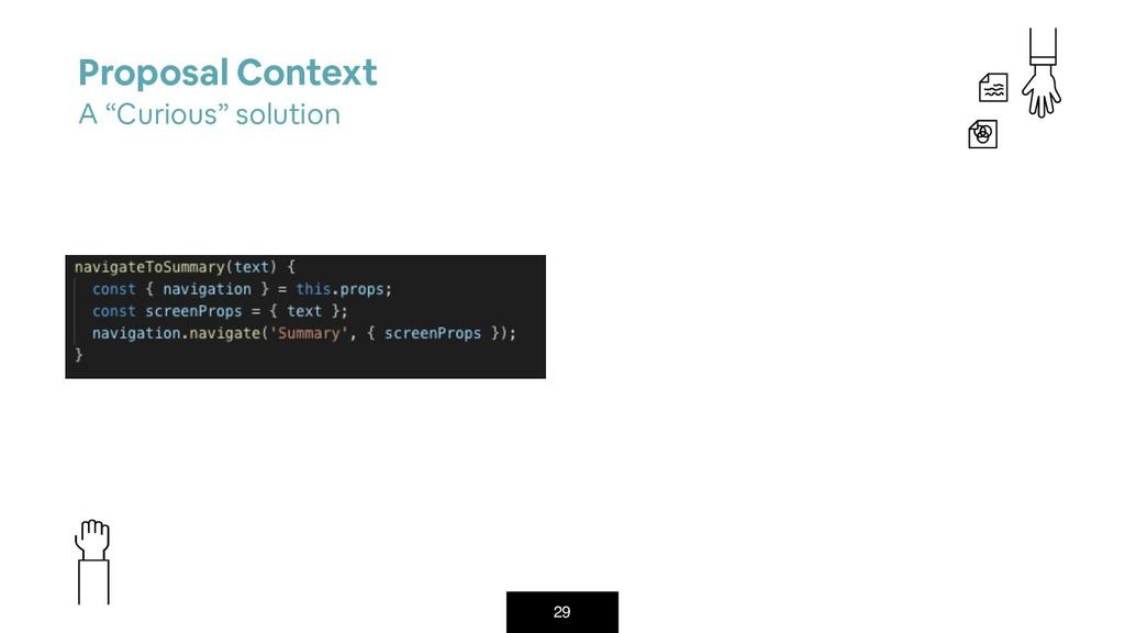 "29 Proposal Context A ""Curious"" solution"