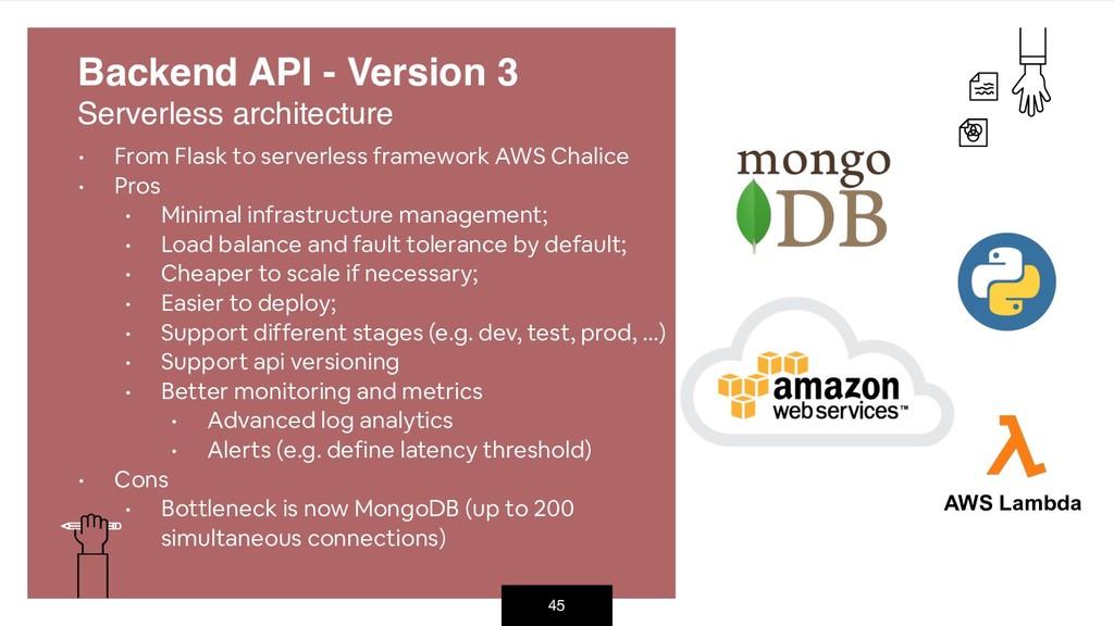 45 • From Flask to serverless framework AWS Cha...
