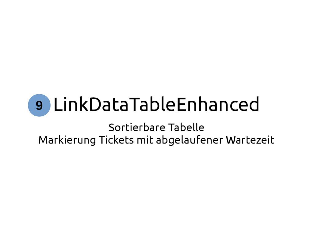 LinkDataTableEnhanced Sortierbare Tabelle Marki...