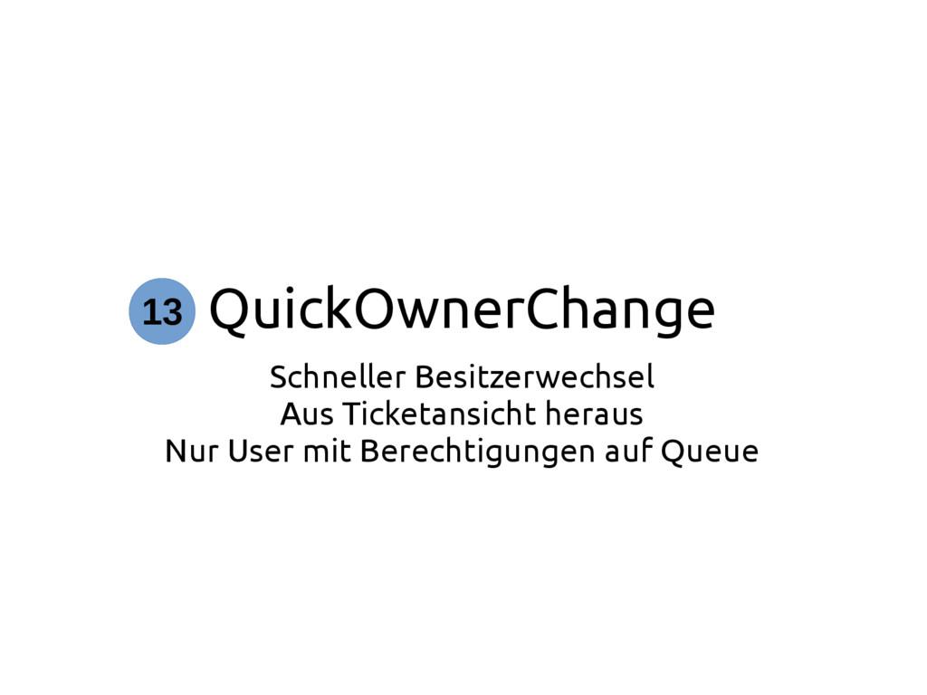 QuickOwnerChange Schneller Besitzerwechsel Aus ...