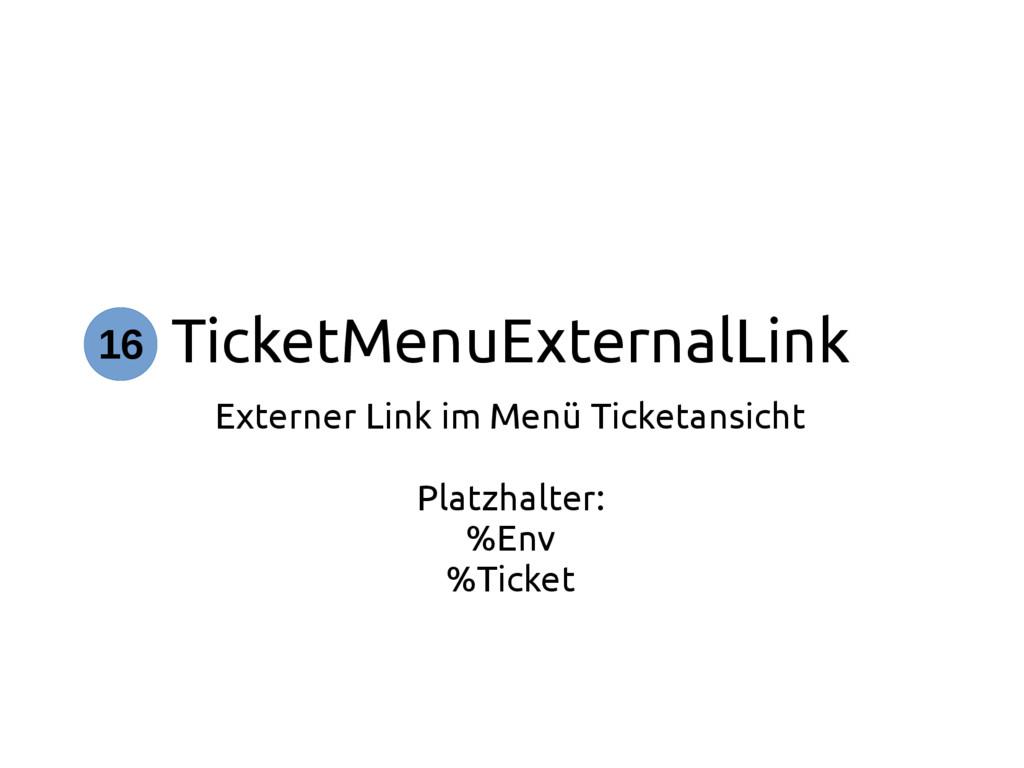 TicketMenuExternalLink Externer Link im Menü Ti...