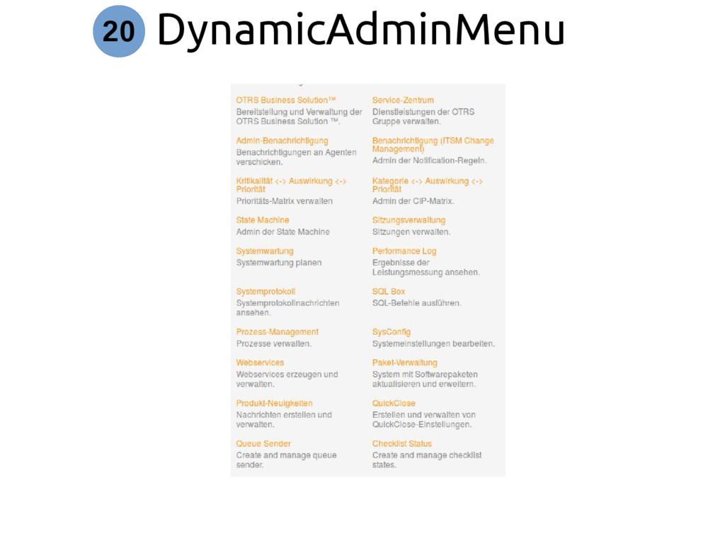 DynamicAdminMenu 20