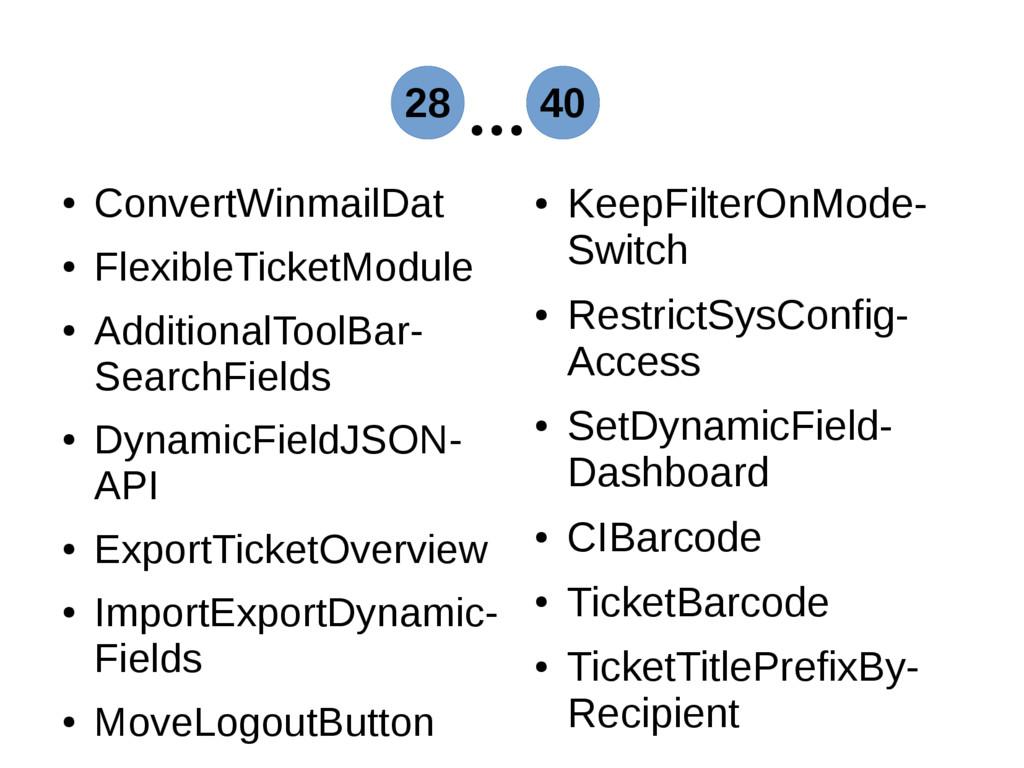 ● ConvertWinmailDat ● FlexibleTicketModule ● Ad...