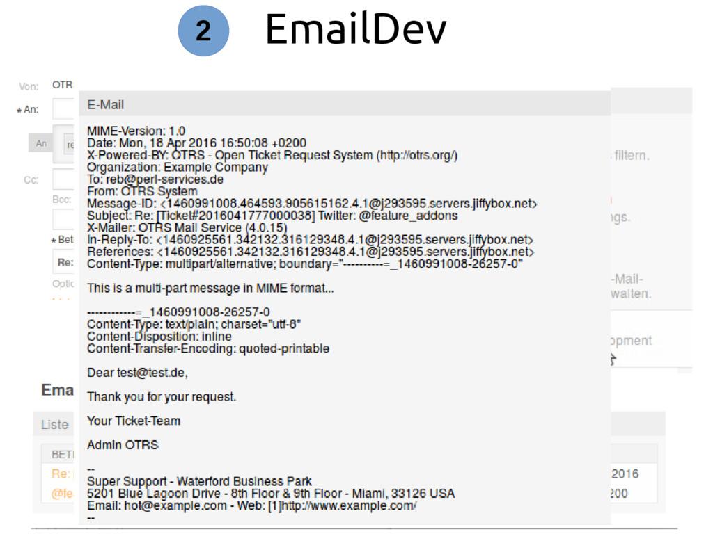 EmailDev 2