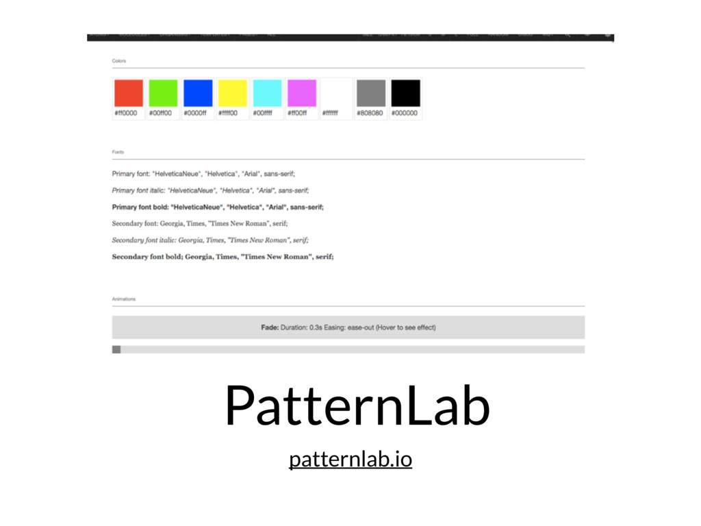 PatternLab patternlab.io