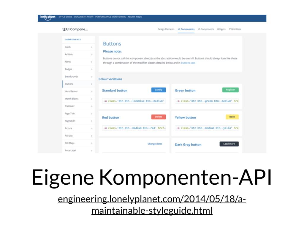 Eigene Komponenten-API engineering.lonelyplanet...