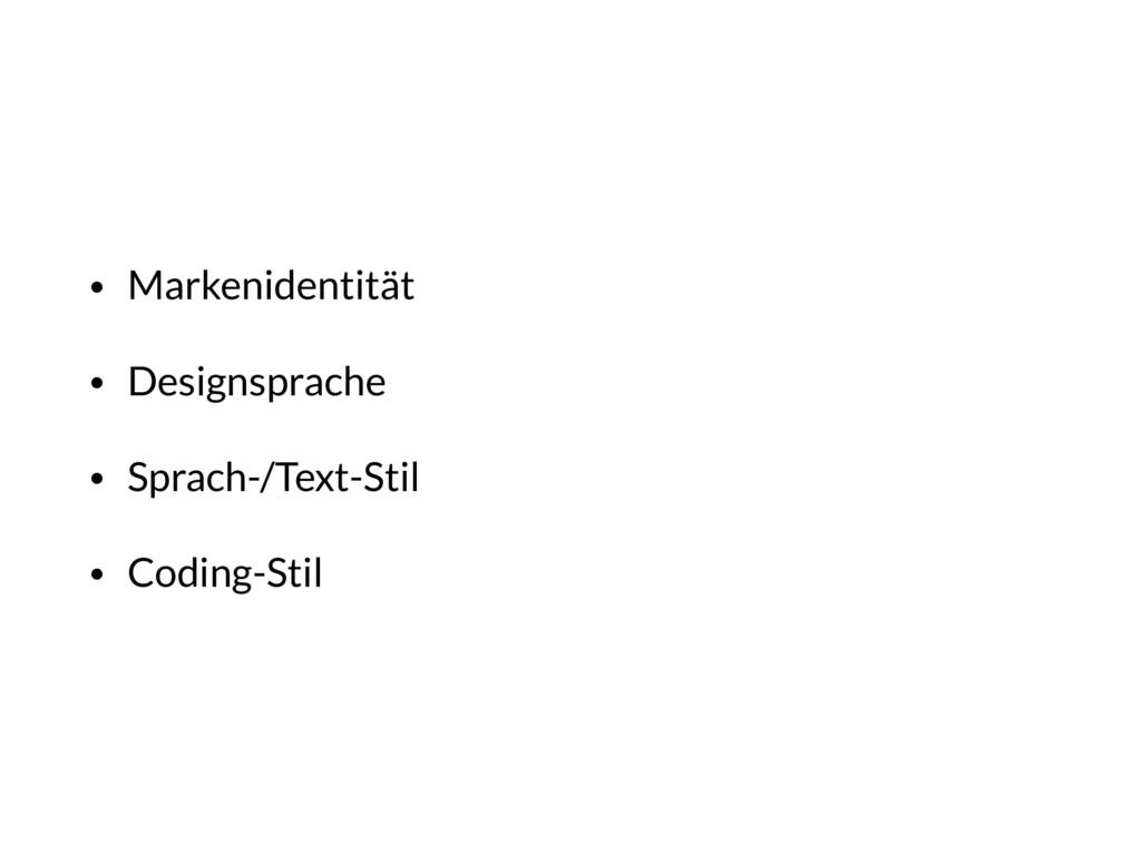 • Markenidentität • Designsprache • Sprach-/Tex...