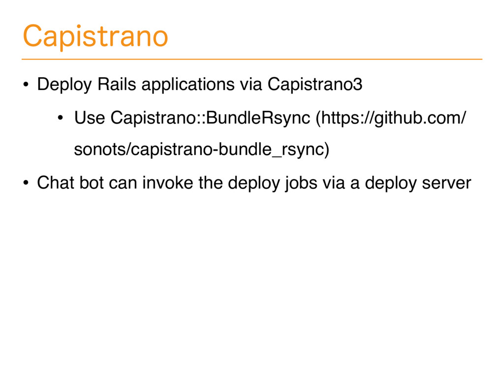 $BQJTUSBOP • Deploy Rails applications via Capi...