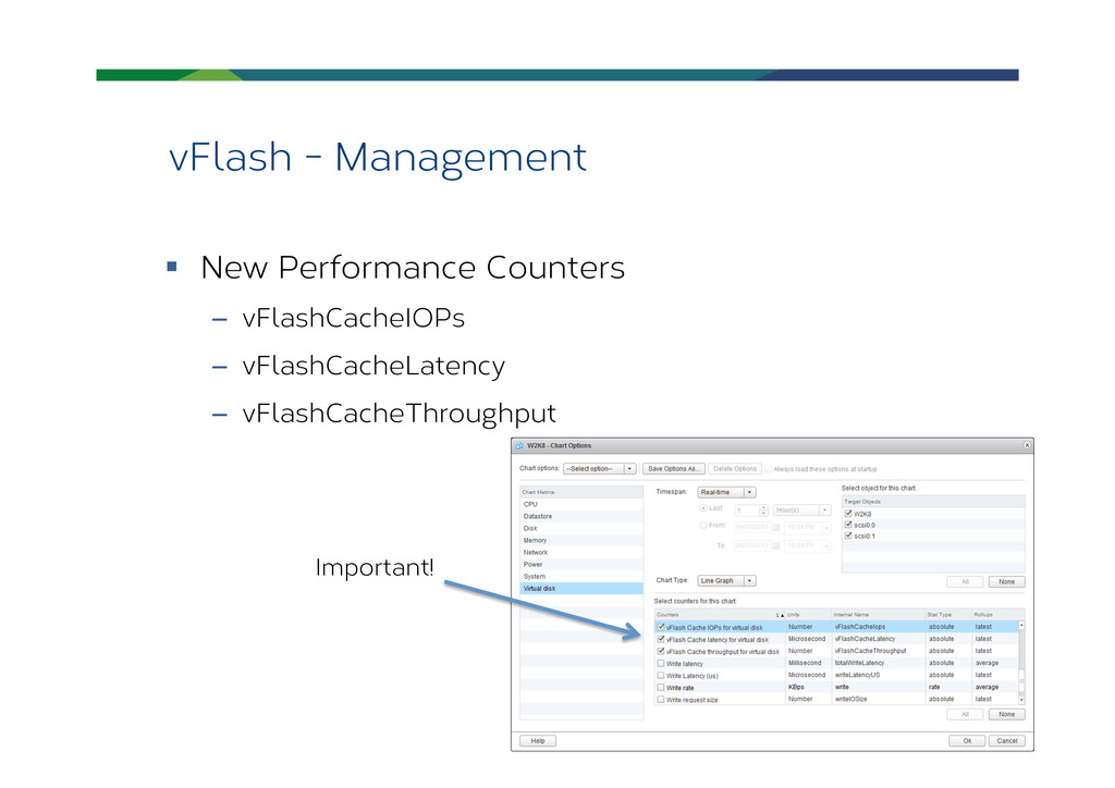 vFlash - Management § New Performance Counter...