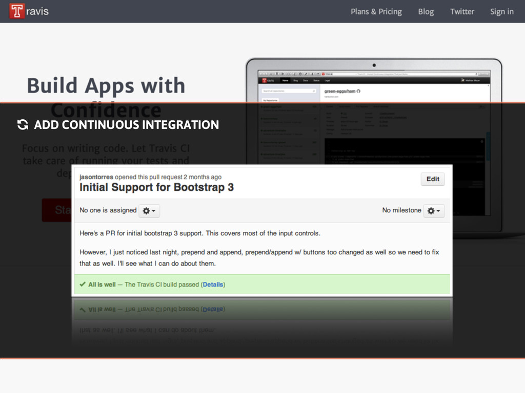 % ADD CONTINUOUS INTEGRATION