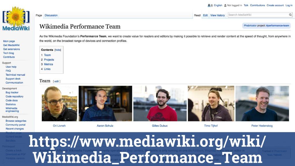 https://www.mediawiki.org/wiki/ Wikimedia_Perfo...