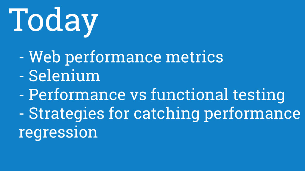 - Web performance metrics - Selenium - Performa...