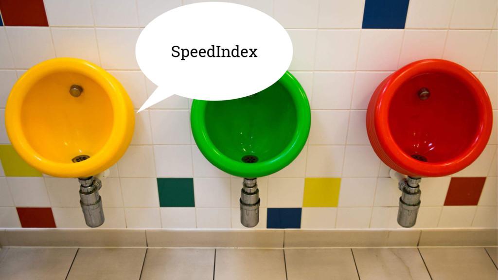 SpeedIndex