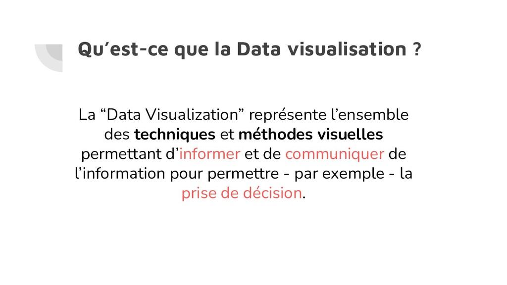 """Qu'est-ce que la Data visualisation ? La """"Data ..."""