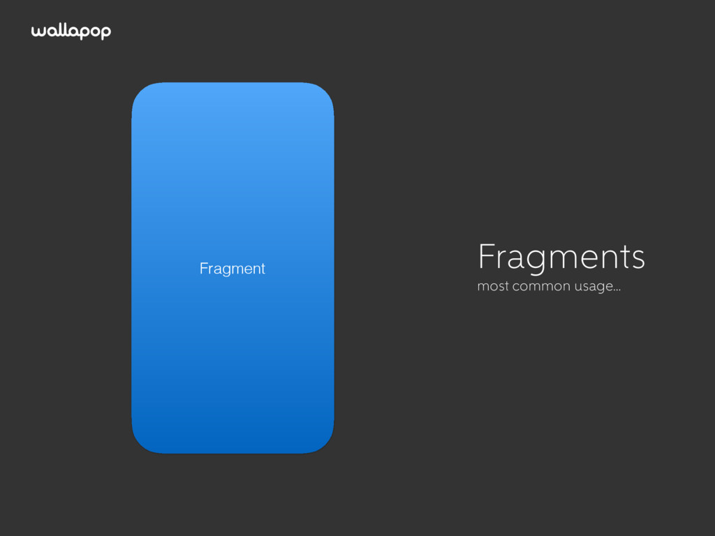 ≥ Activity Fragment Fragments most common usage…