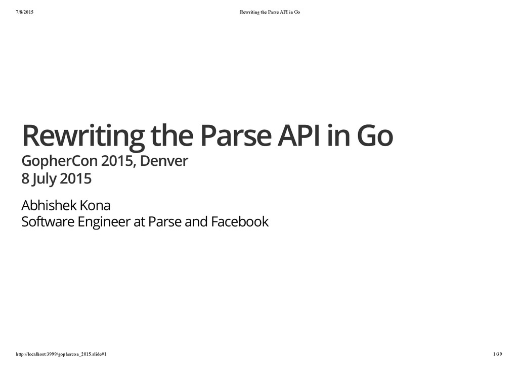 7/8/2015 Rewriting the Parse API in Go http://l...
