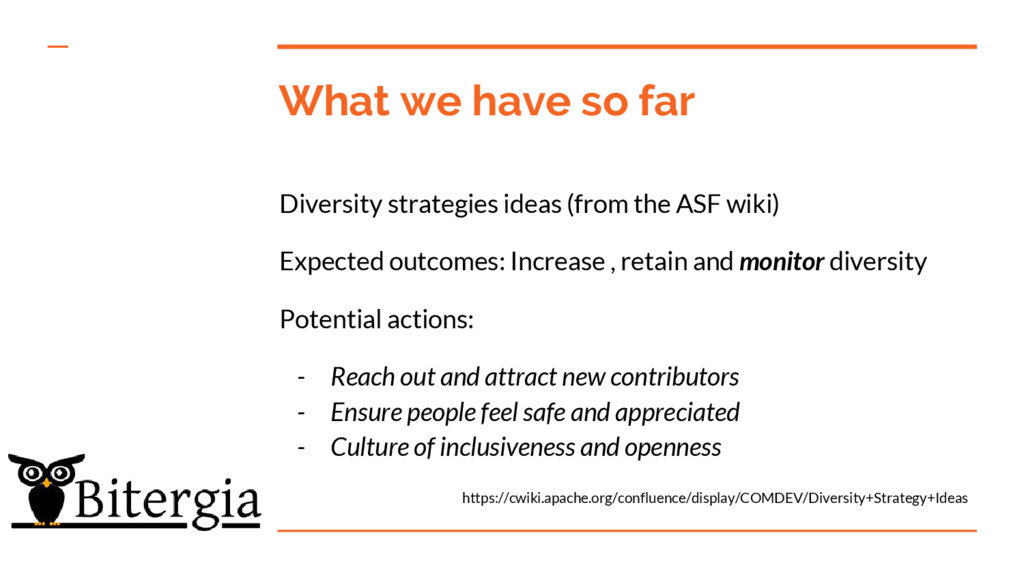 What we have so far Diversity strategies ideas ...