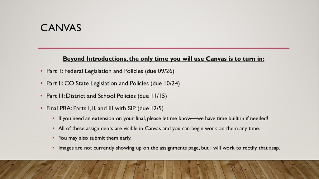CANVAS Beyond Introductions, the only time you ...
