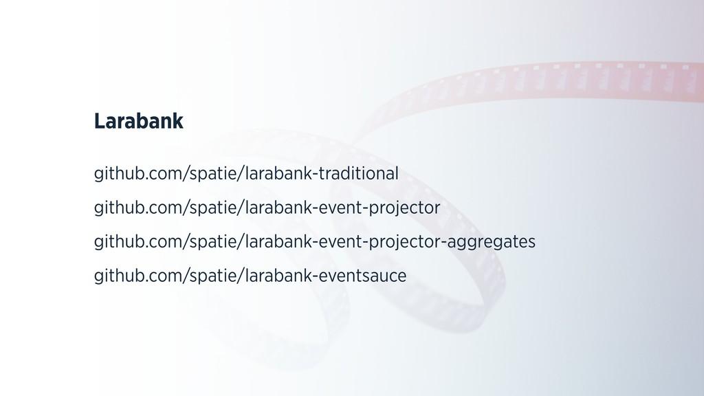 Larabank github.com/spatie/larabank-traditional...