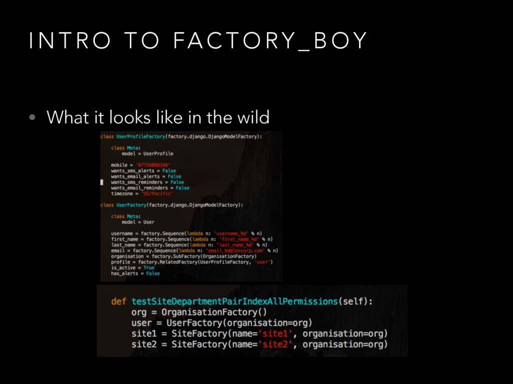 I N T R O T O FA C T O RY _ B O Y • What it loo...
