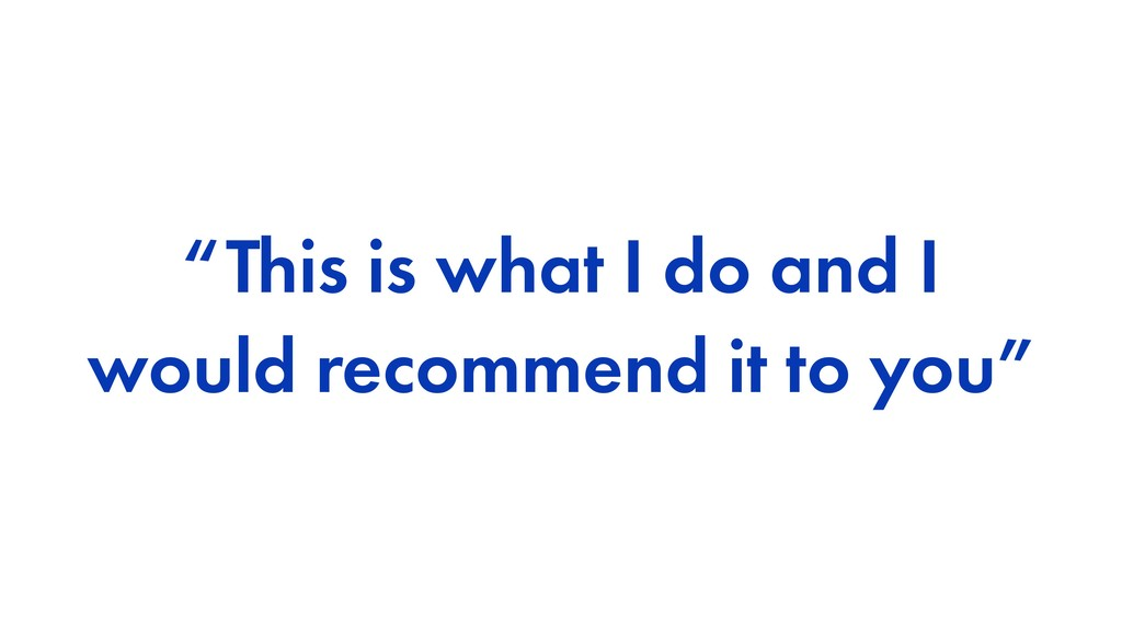 """This is what I do and I would recommend it to ..."