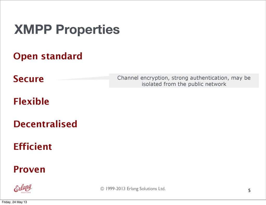 © 1999-2013 Erlang Solutions Ltd. XMPP Properti...