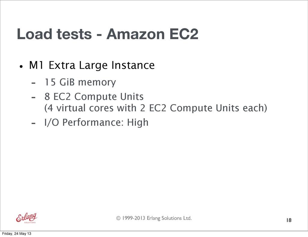 © 1999-2013 Erlang Solutions Ltd. Load tests - ...