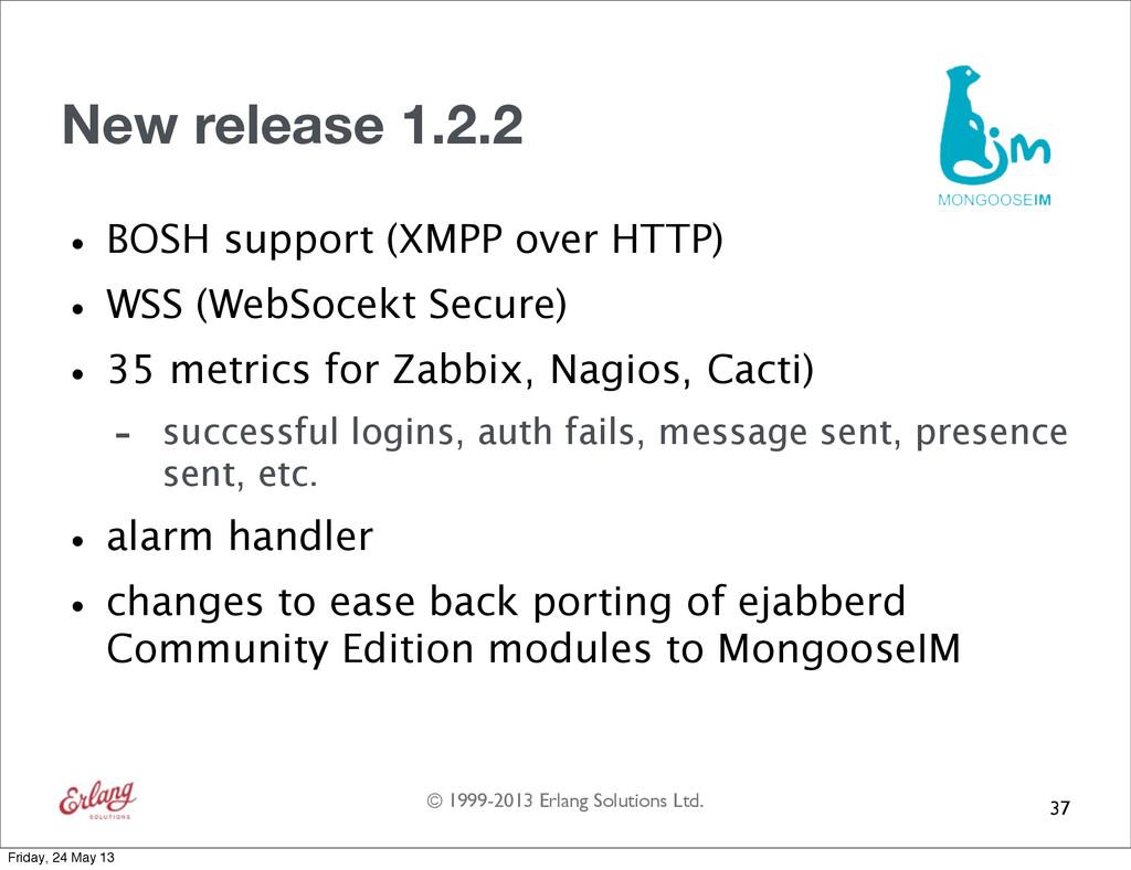 © 1999-2013 Erlang Solutions Ltd. New release 1...
