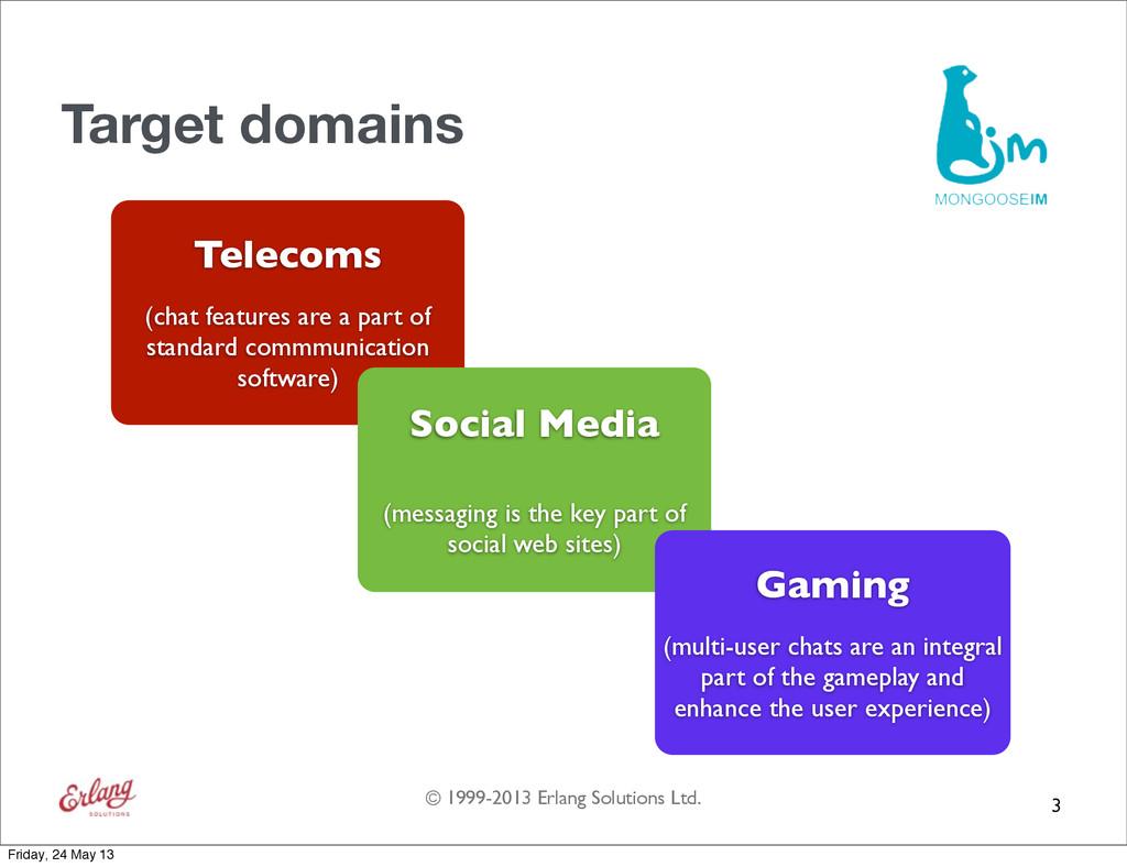 © 1999-2013 Erlang Solutions Ltd. Target domain...