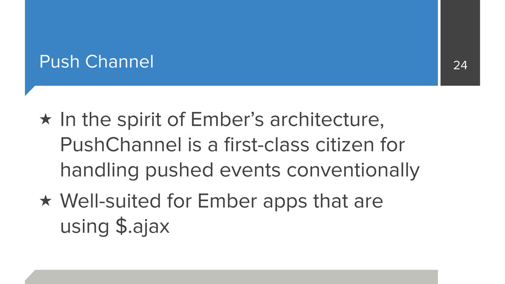 Push Channel 24 ★ In the spirit of Ember's arch...