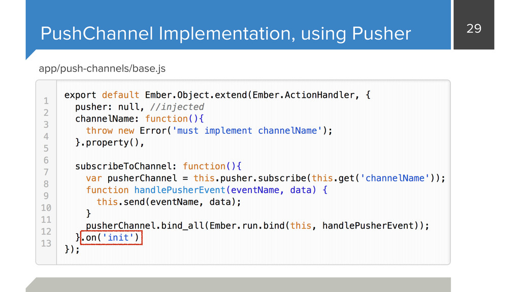 29 PushChannel Implementation, using Pusher app...