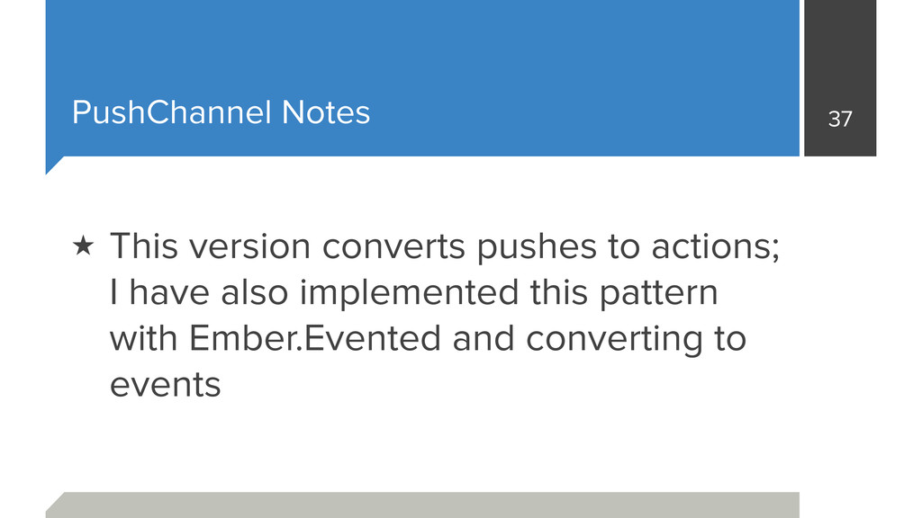 PushChannel Notes 37 ★ This version converts pu...