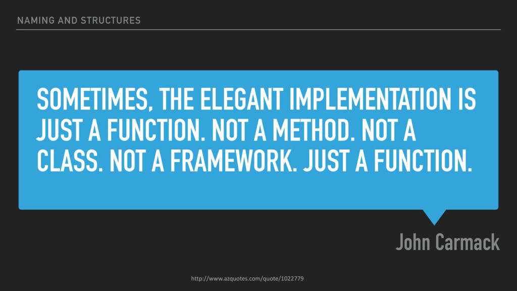 SOMETIMES, THE ELEGANT IMPLEMENTATION IS JUST A...