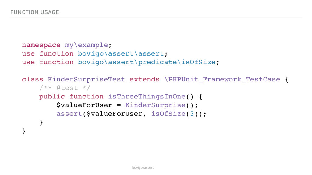 FUNCTION USAGE namespace my\example; use functi...