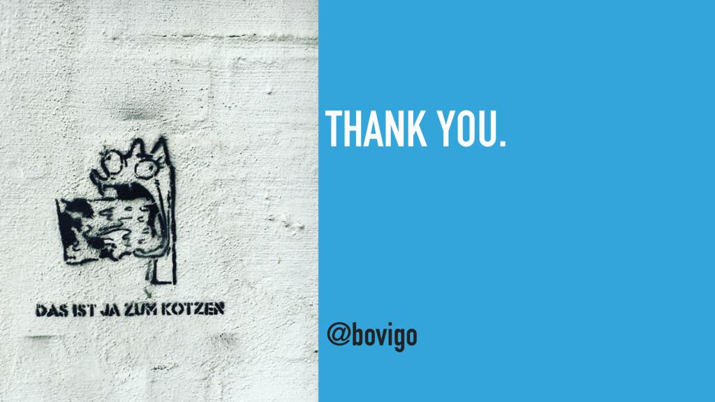 THANK YOU. @bovigo