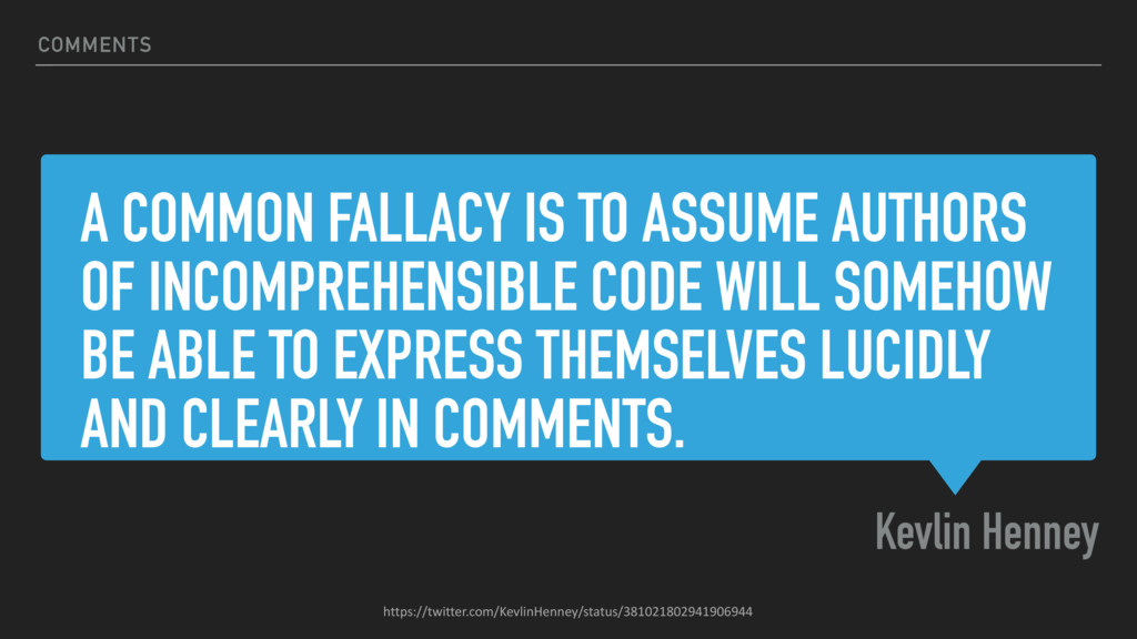 A COMMON FALLACY IS TO ASSUME AUTHORS OF INCOMP...