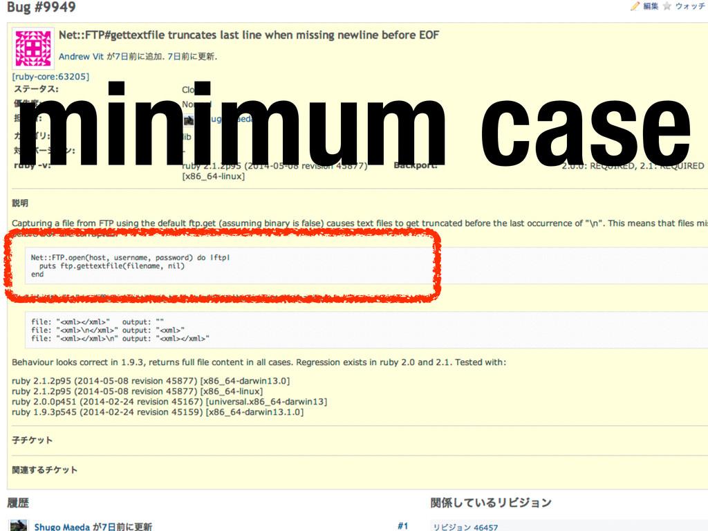minimum case