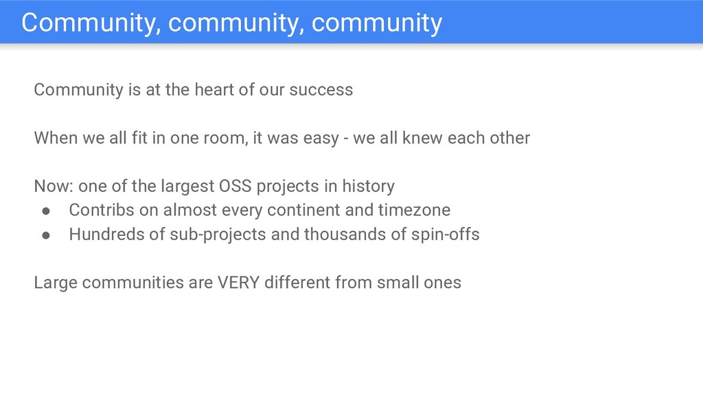 Community is at the heart of our success When w...