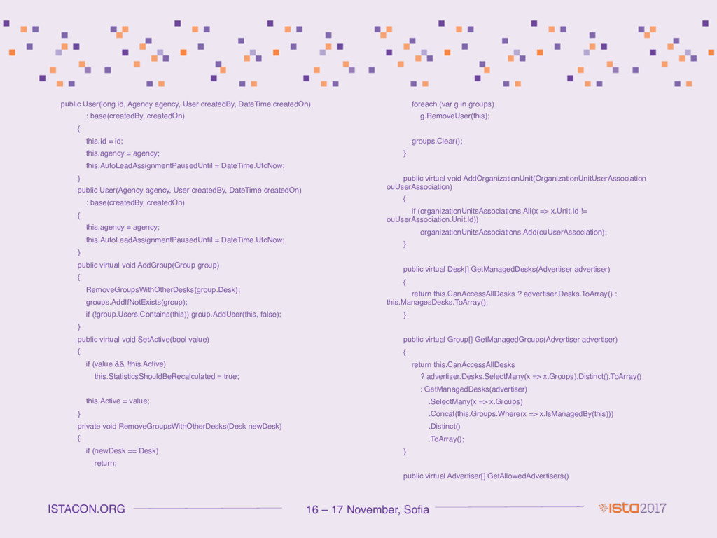 16 – 17 November, Sofia ISTACON.ORG public User...