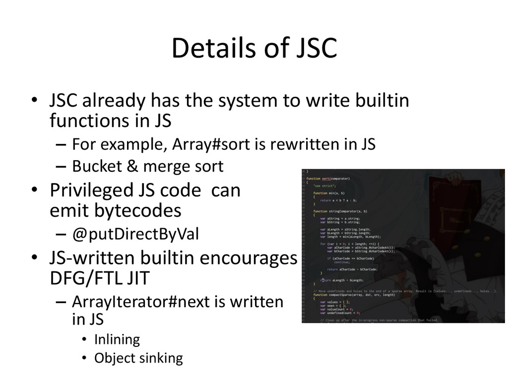 Details of JSC • JSC already has the system to ...