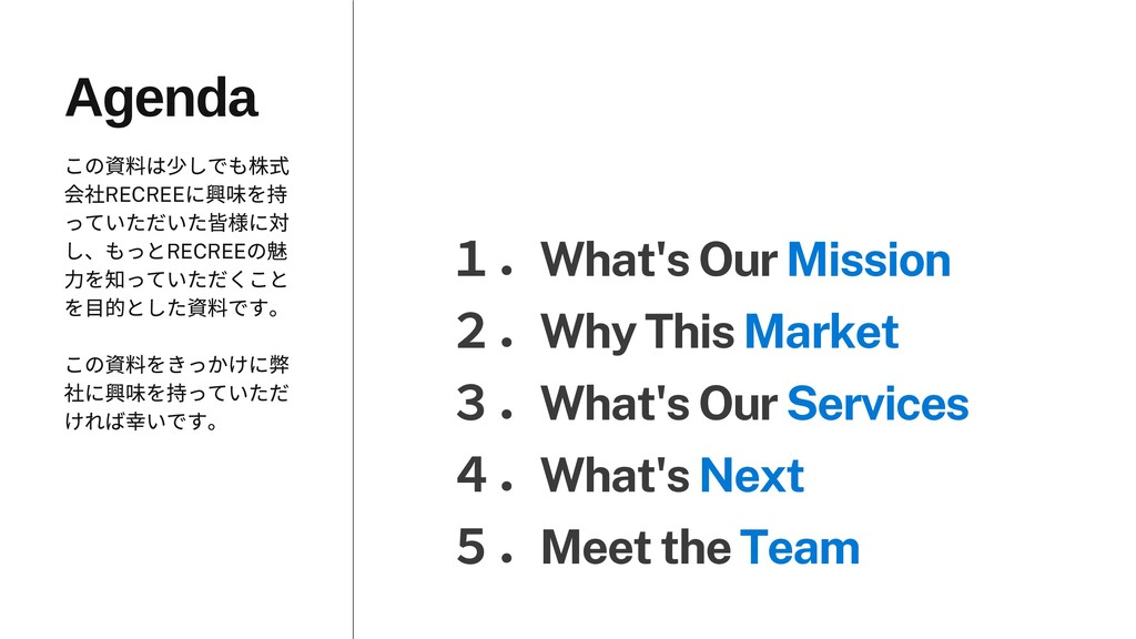 1.What's Our Mission 2.Why This Market 3.What's...