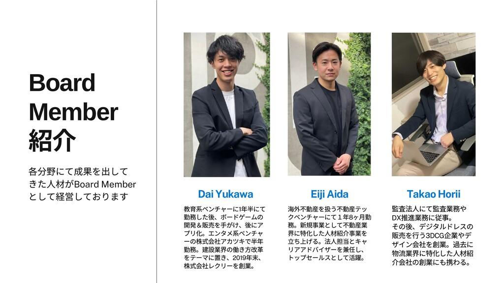 Dai Yukawa Eiji Aida Takao Horii Board Member 各...