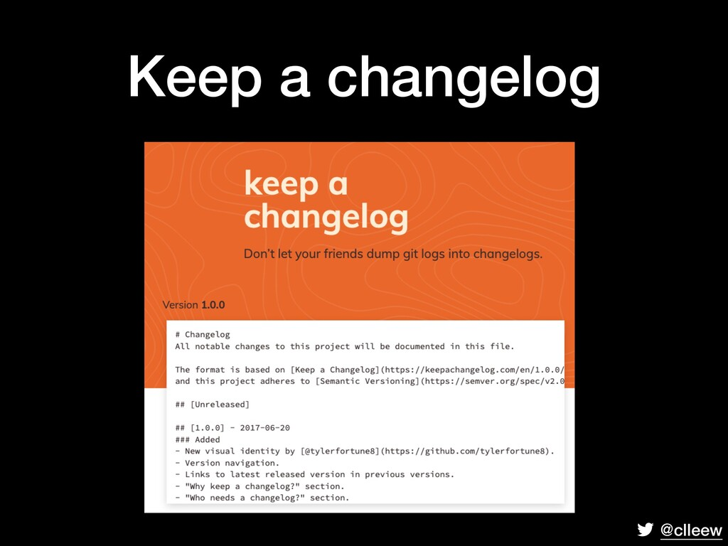@clleew Keep a changelog