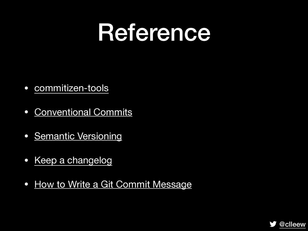@clleew Reference • commitizen-tools  • Convent...